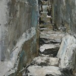 Fairy Steps. Acrylic and mixed media on paper, 2008 (sold).