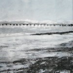 Arnside snow. Acrylic and mixed media on paper, 2008, 62x50cm (sold)