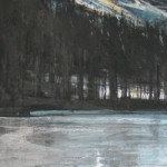 Icy (Tarn Hows). Acrylic and mixed media, 79x35cm 2008.(sold).