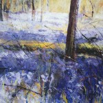 Bluebell Woods. Acrylic and mixed media, 2009, 55cm x 55cm.(sold).