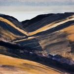 From the Kirkstone Pass. Monoprint. 30cm x 30cm. 2011. Varied edition of 4. (4 sold).