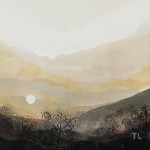 Sun above Coniston. monoprint. varied edition of 4 . 2010 ( 4 of 4 sold ).