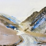 Honister Pass. Monoprint. Varied edition of 4. (4 sold + 1 AP artist proof sold ). 30 cm x 30 cm. 2011.