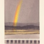Rainbow over Estuary. Monoprint Linoprint. Varied edition of 10. 2011. ( 2 sold ).