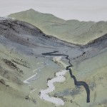 Wrynose Pass. Monoprint. 30cm x 30cm. Varied edition of 5. 2011. ( 2 sold ).