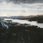 Orrest Head, Windermere. Acrylic and mixed media. 50cm x 50 cm. 2009. Prize winner Cumbria Open 2010. (sold).