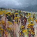 Fields of Colour. Acrylic on canvas, 100cmx100cm. 09. (sold).