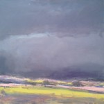 Sky over Silverdale 1. Acrylic and mixed media. (sold).