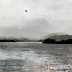 Windermere. Acrylic and mixed media on linen. 90cm x 90cm. 2013. (sold).