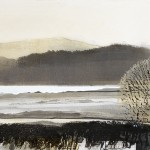 Bassenthwaite. Monoprint. 48cm x 23cm. Varied edition of 6. 2014. ( 3 sold ).