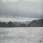 Derwent Water 2. Monoprint. Varied edition of 3. 2 sold.