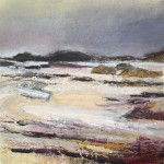 Tide out on Mull. Acrylic and mixed media. 23cm x 23cm.