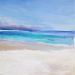 Iona Sands. Acrylic and mixed media. 40cm x 40cm. 2014. (sold).