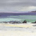 Iona Light. Acrylic and mixed media. 15cm x 40cm. 2014. (sold).
