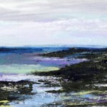 Colonsay 3. Acrylic and mixed media. 15cm x 40cm. 2014. (sold).