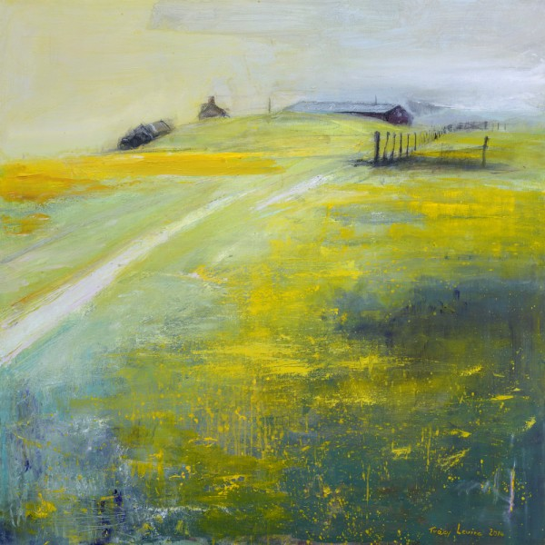 Buttercups and Daisies 3. Acrylic and mixed media. 90cm x 90cm.