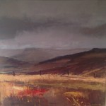 Heather and Moors 2. 100cm x 100cm. (sold).