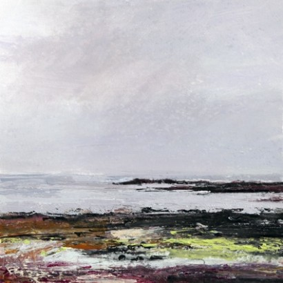 Colonsay 2. Acrylic and mixed media. 30cm x 30cm.