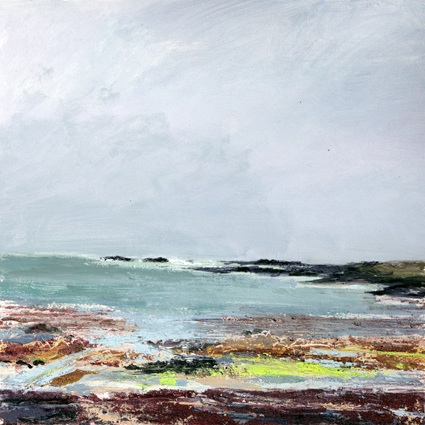 Colonsay 1. Acrylic and mixed media. 40cm x 40cm.