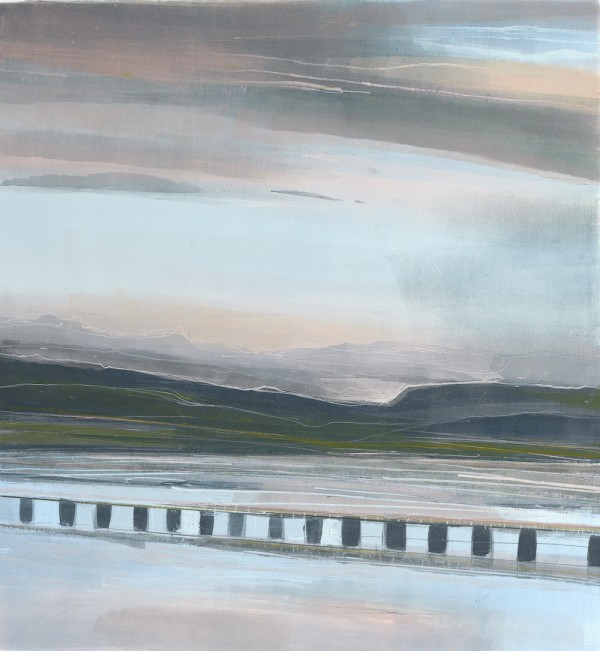 Arnside Estuary. Monoprint. 40cm x 40cm. Sold.