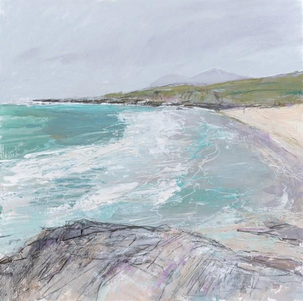 Hebrides, Isle of Harris 1. Acrylic and mixed media. 40cm x40cm.