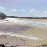 Arnside Estuary. Acrylic and mixed media. 50cm x 50cm. (sold).