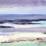 Colonsay 4.   Acrylic and mixed media. 13cm x 41cm. 2014. (sold).