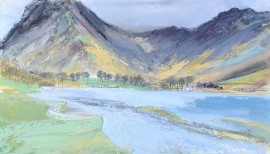 Buttermere 2. Acrylic and mixed media. 31cm x 53cm