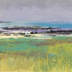 Fidden Mull. Acrylic and mixed media. 42cm x 13cm. Sold.