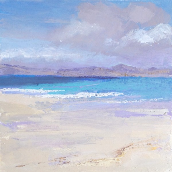 Iona Beach 2. 2. Acrylic and mixed media. 30cm x 30cm jpg