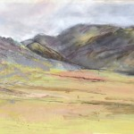 Near Crummock Water. Acrylic and mixed media. Sold.