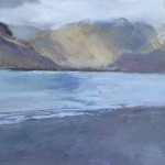 Buttermere 3. Acrylic and mixed media. 40cm x 40cm. 2015. Sold.