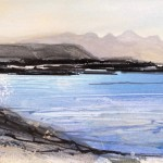 Arisaig. Acrylic and mixed media. 2016. Sold.