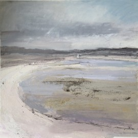 Traigh Beach 2. Acrylic and mixed media. 42cm x 42cm. (Sold).