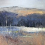 Purple Haze, Coniston. Acrylic and mixed media on linen. 90cm x 90cm. Sold.