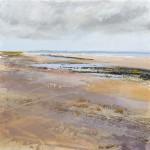 Walney Island. Acrylic and mixed media. 40cm x 40cm. 2016.