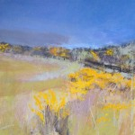 Gorse 2. Acrylic and mixed media. 42cm x 42cm. Sold.