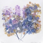 Hydrangeas Monoprint. Varied Edition of 3.