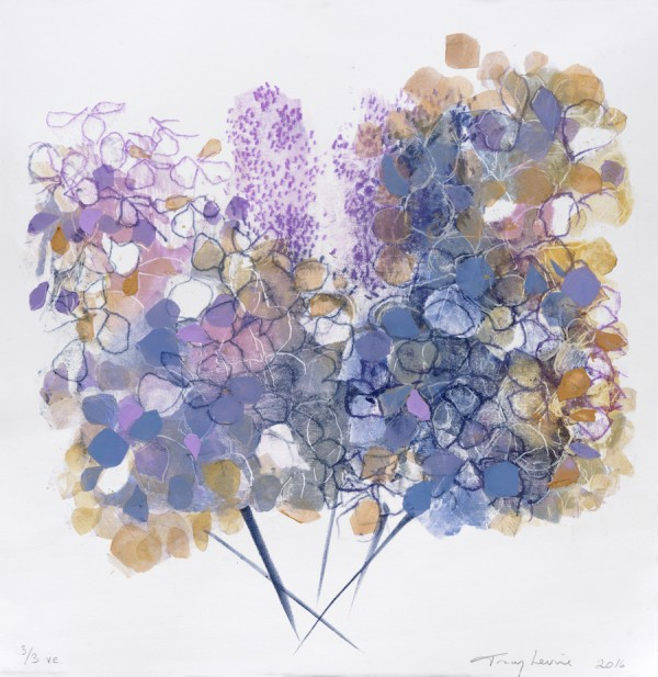 Hydrangeas monoprint 1 copy