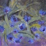 Cornflower Blue. Acrylic and mixed media. 30cm x 30cm. Sold.
