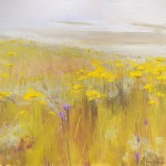 Fields of Gold. Acrylic and mixed media on linen. 90cm x 90cm.