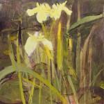 Pond Iris. Acrylic and mixed media. 30cm x 30cm. Sold.