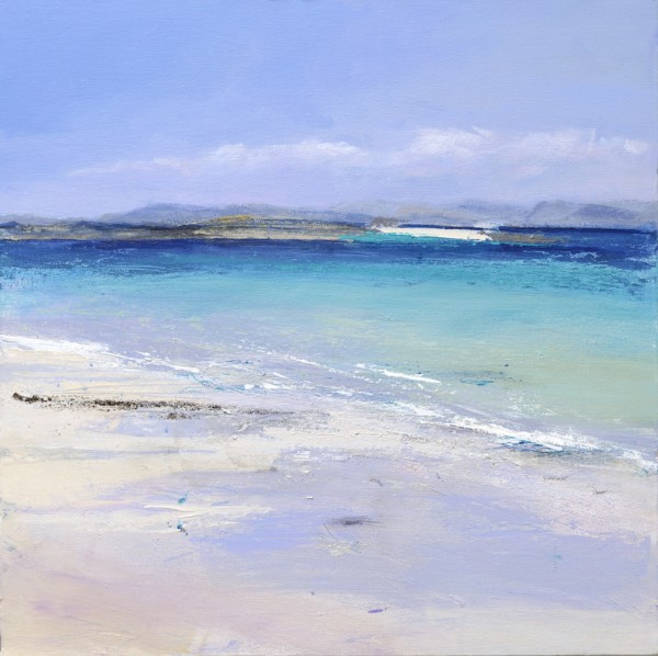 Iona North Beach. Acrylic and mixed media on linen. 50cm x 50cm.