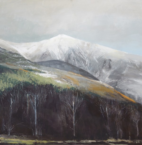 Lakeland Winter. Acrylic and mixed media on linen. 90cm x 90cm