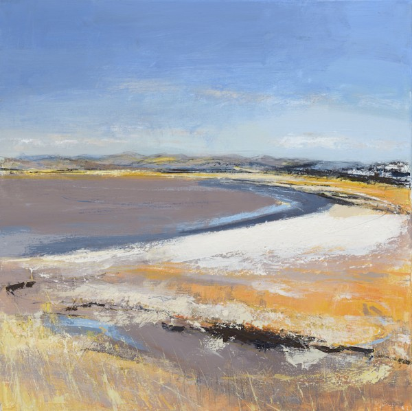 Arnside Embankment. Acrylic and mixed media on linen. 60cm x 60cm. Sold.