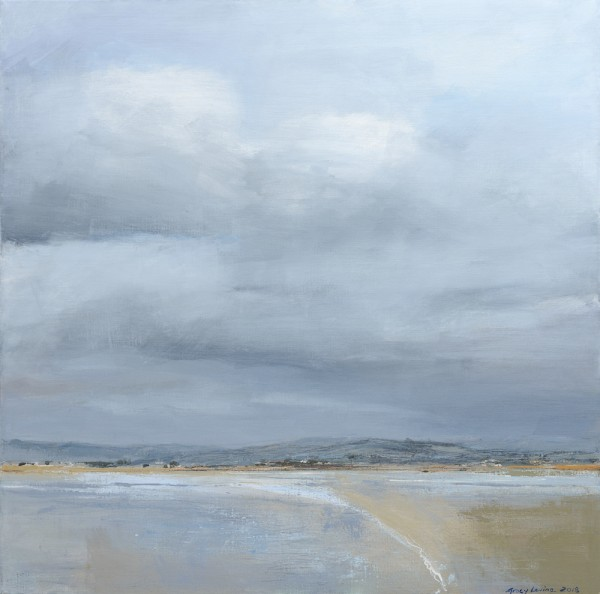 Solace at Sandside. Acrylic and mixed media on linen. 60cm x 60cm.